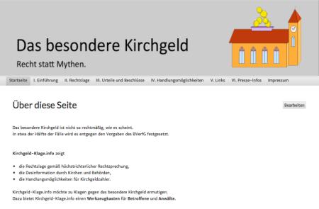 Kirchgeld-Klage Screenshot